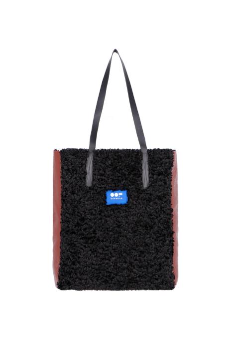 Bag 3002 in brick eco-sheepskin
