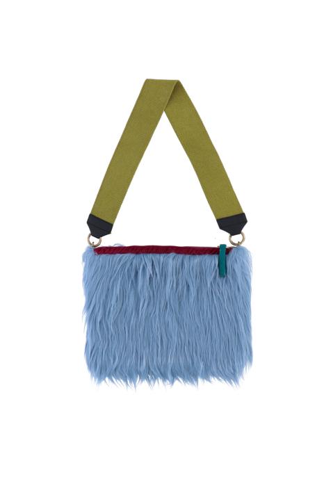 Bag 3003 in cerulean faux fur