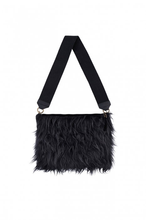 Bag 3003 in black faux fur