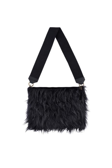 Bag 3003 in black faux fur