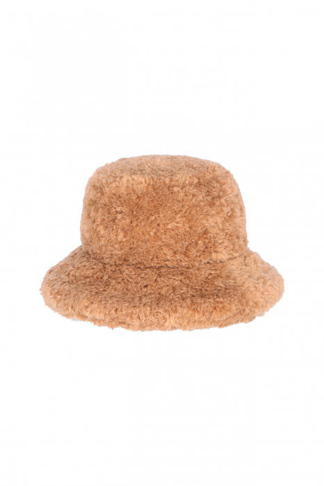 Hat 3005 in camel curly pile faux fur