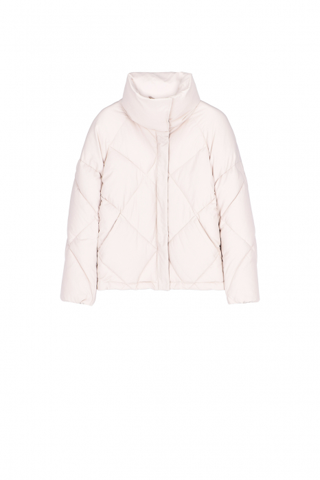 Padded jacket 9000 in white nylon