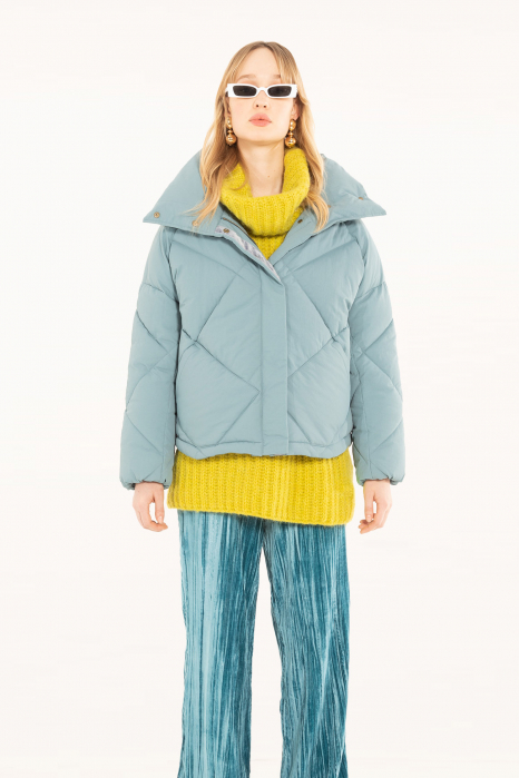 Padded jacket 9000 in sugar paper blue nylon