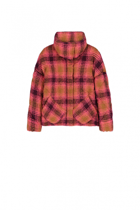 Padded jacket 9000 in check wool blend