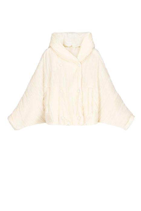 Short jacket 9001 in butter-yellow velvet