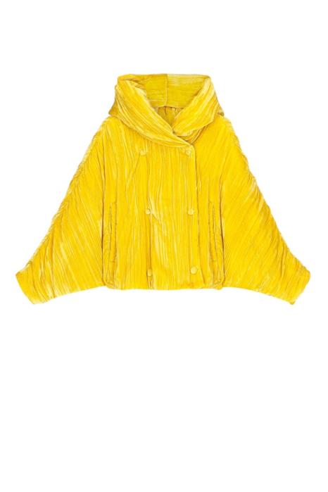 Short jacket 9001 in yellow velvet