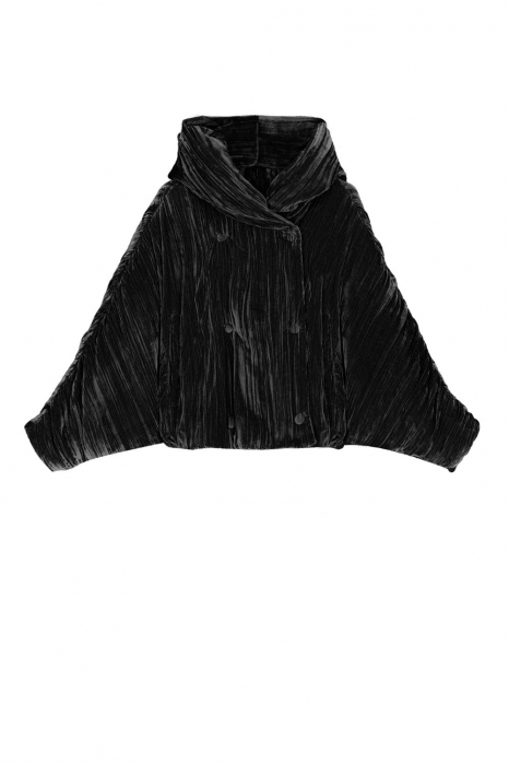 Short jacket 9001 in black velvet