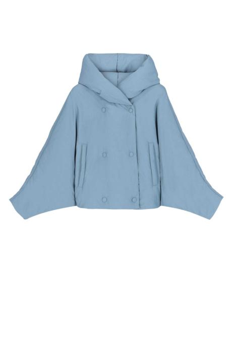 Short jacket 9001 in sugar paper blue nylon
