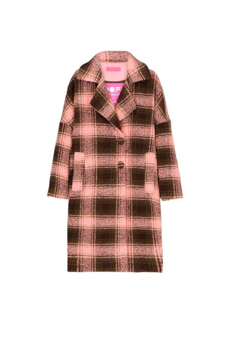 Long coat 9002 in red velvet