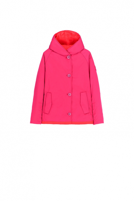 Short jacket 9006 in fuchsia/red shape memory fabric