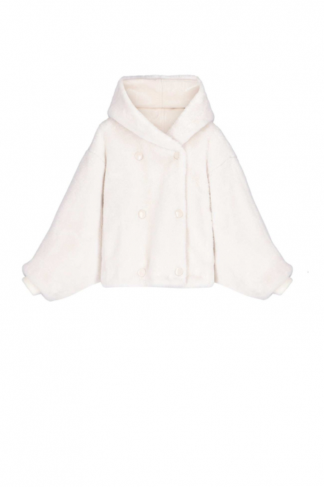 Short Faux Fur 9012 white/butter