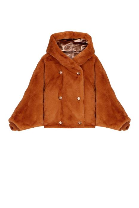 Short Faux Fur 9012 terracotta/gold