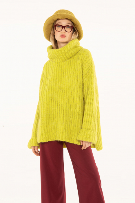 Sweater 4003 in yellow wool blend