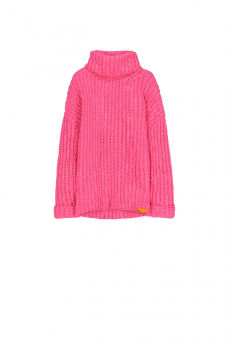 Sweater 4003 in fuchsia wool blend
