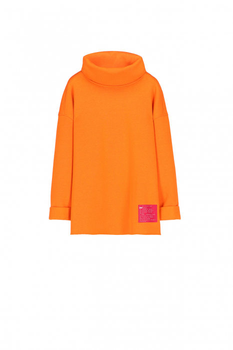 Sweatshirt 4001 in orange cotton blend