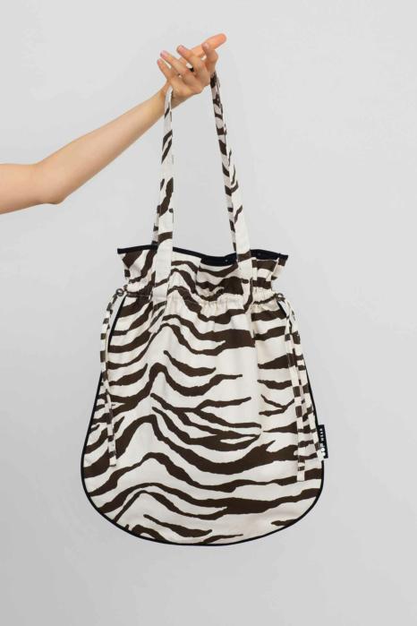 Bucket bag 3022 natural white/brown