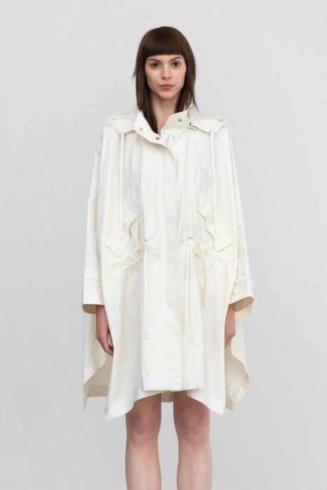 Cape 9019 in cotton and nylon white