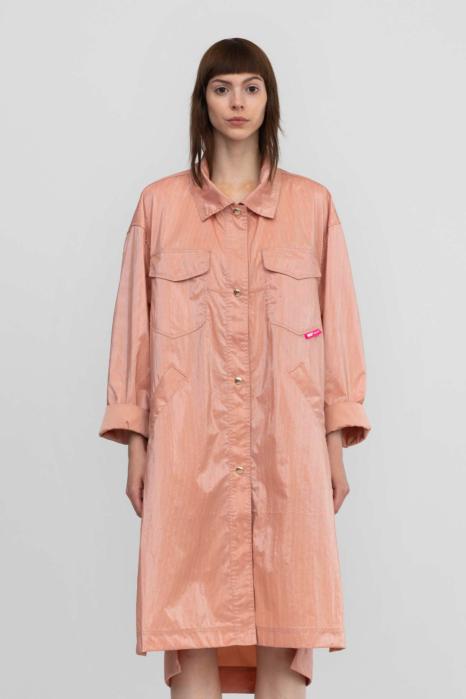 Long overcoat 9027 in nylon pink