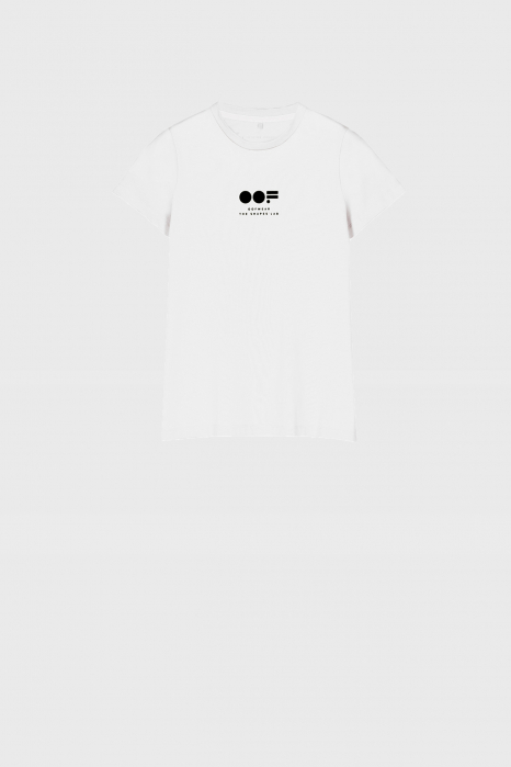 Women's slim fit t-shirt in white cotton with logo