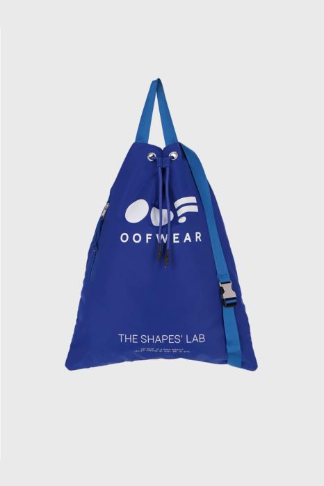 Shoulder bag with logo in royal blue