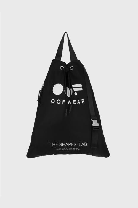 Shoulder bag with logo in black