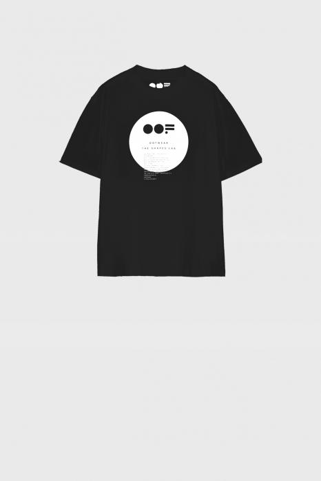 Women's crew neck t-shirt in black cotton with logo